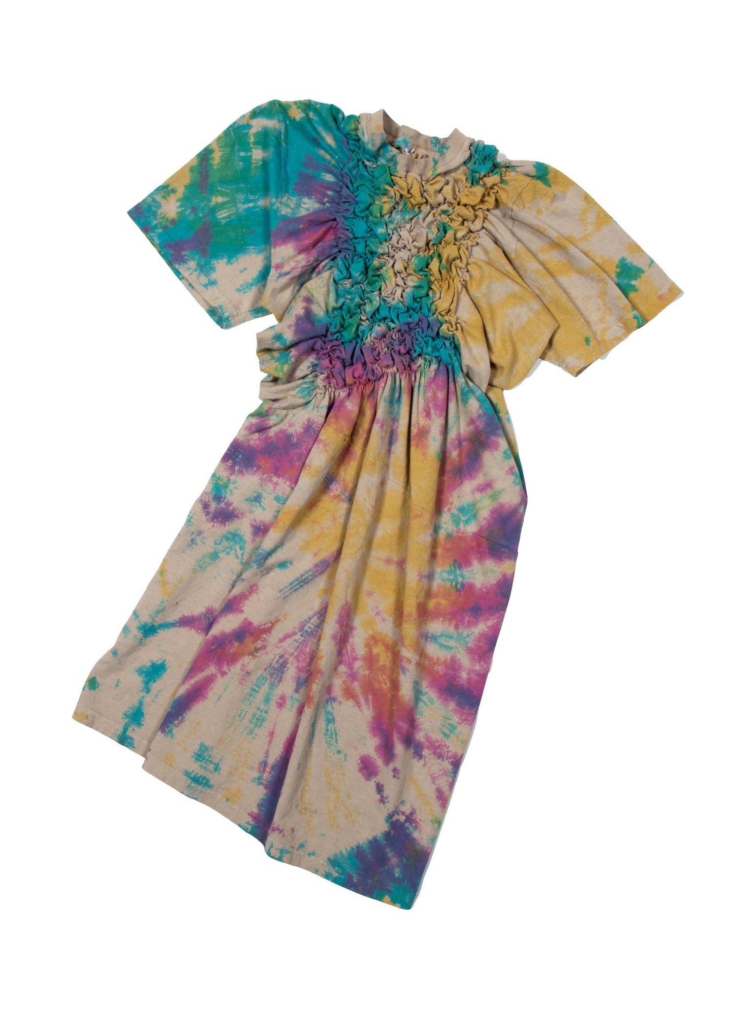 Rainbow Dyed Scrunchie Dress