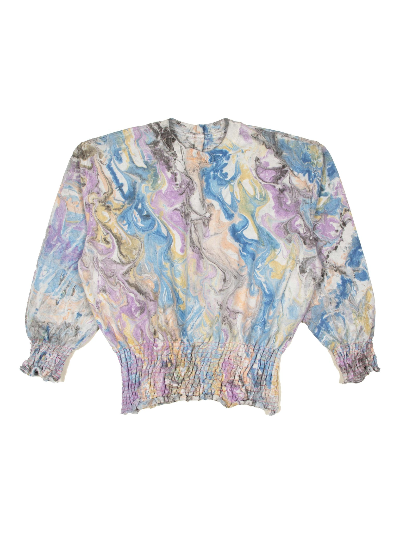 Marbled Scrunchie Sweatshirt