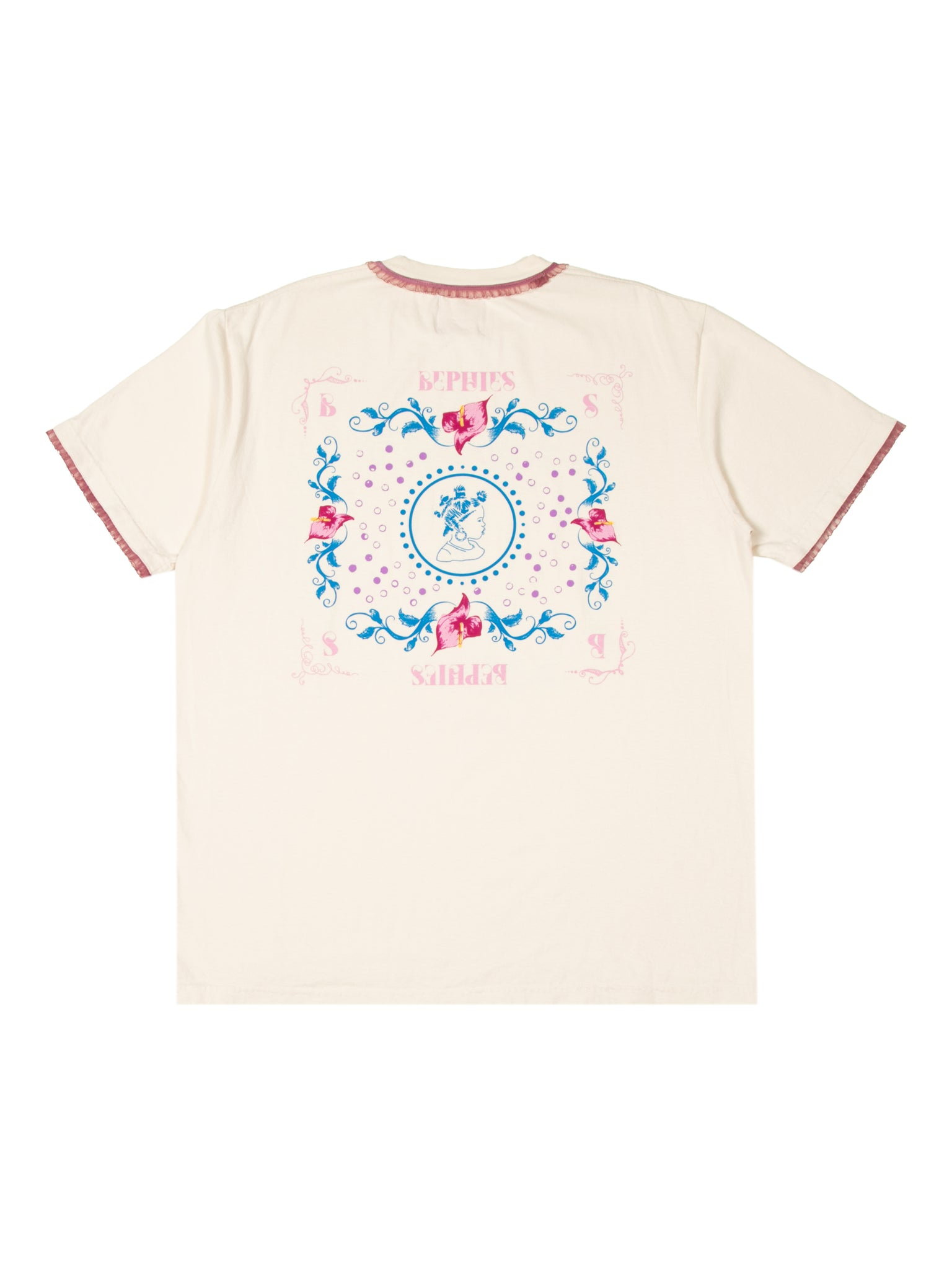 Anthurium Ruffle Short Sleeve Tee