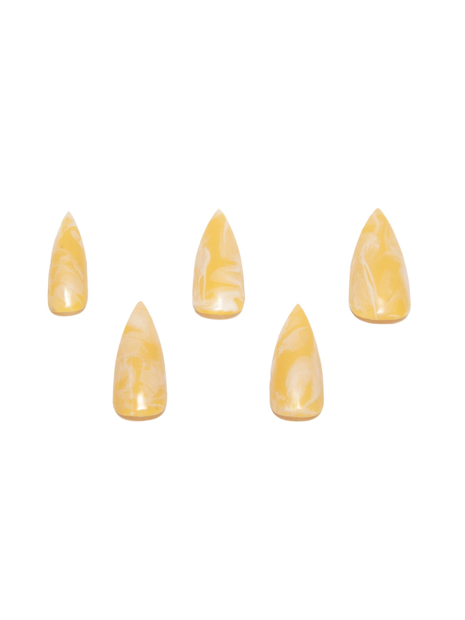 CURET NAILS Marble PressOn - Yellow