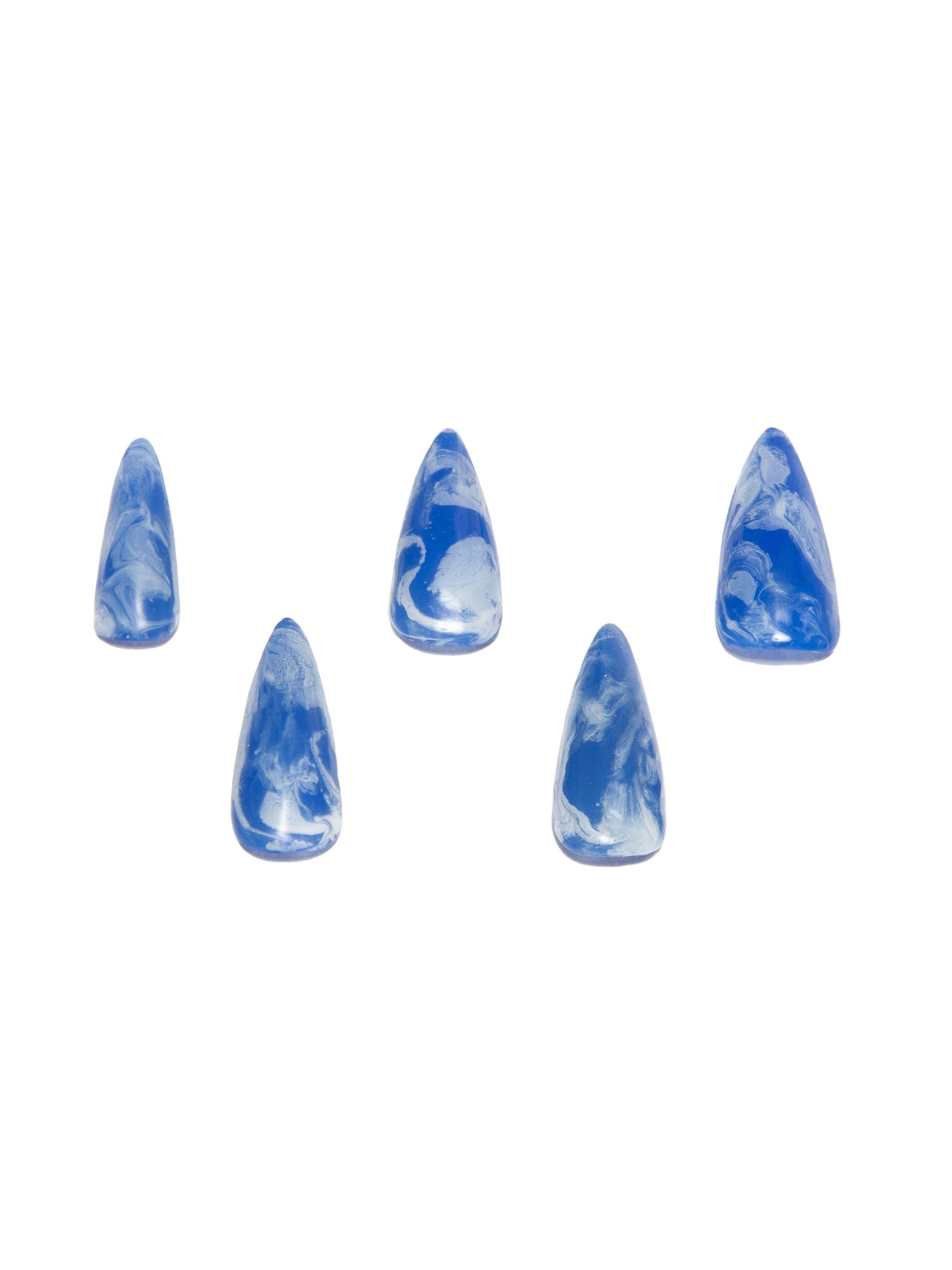 CURET NAILS Marble PressOn - Blue