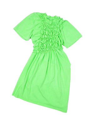 Neon Scrunchie Dress