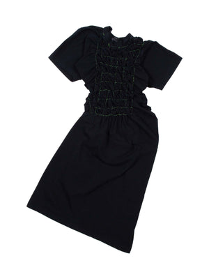 Black Scrunchie Dress
