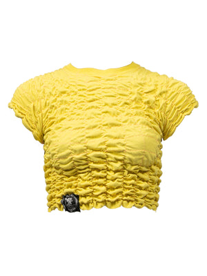 Scrunchie top - Yellow