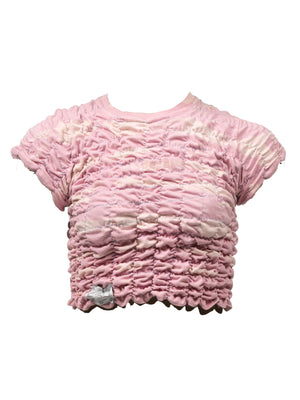 Scrunchie crop top - Pink