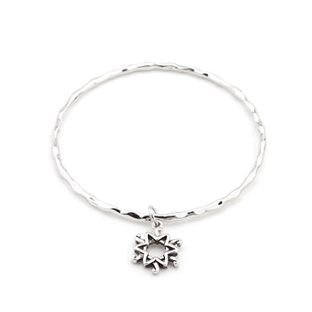 Solitaire Star Charm Bangle