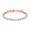 17.6 Ct Rosegold Tennis Bracelet with Shimmering Round CZ