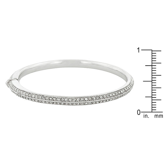 Crystal Embellished Bangle Bracelet