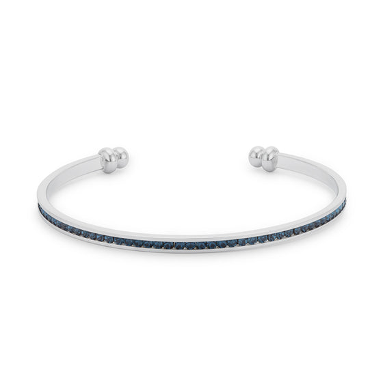 Channel-Set Montana Blue Cubic Zirconia Cuff