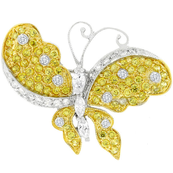 Golden Butterfly Brooch