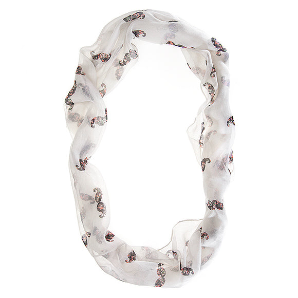 Forever White Infinity Scarf