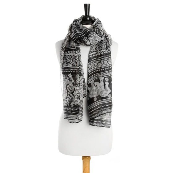 Michelle Scarf in Black
