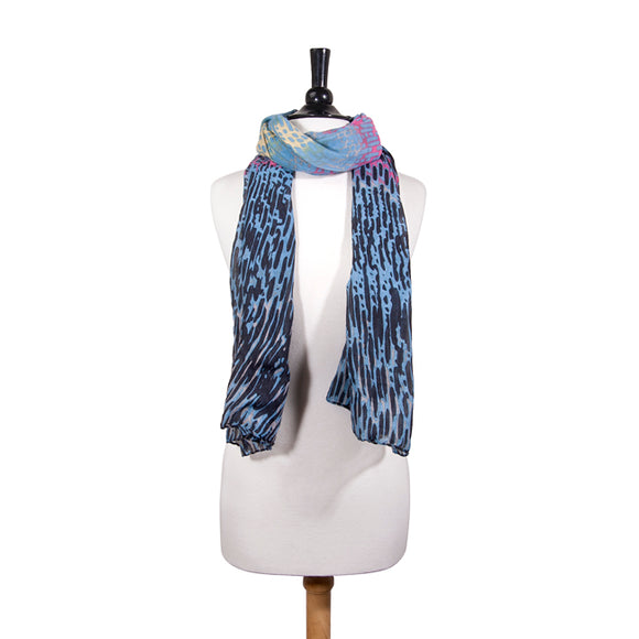Sydney Watercolor Black Scarf