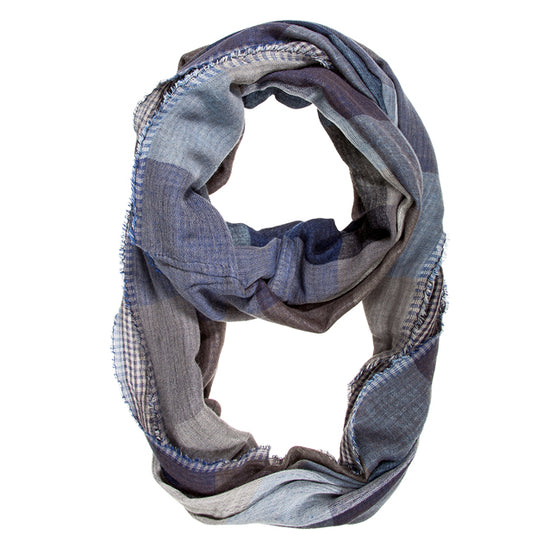Blue Spencer Plaid Infinity Scarf