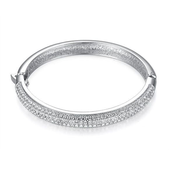 Encrusted Bangle With Swarovski Crystals