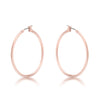 Elegant Rosegold Hoop Earrings