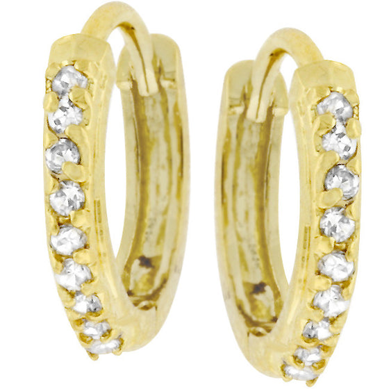 Classic Petite Hoop Earrings Goldtone Finish