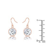 5.5 Ct Rosegold CZ Drop Earrings