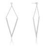 Michelle 1.2ct CZ White Gold Rhodium Delicate Pointed Drop Earrings