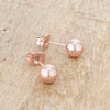 Tanya Rose Gold Sphere Stud Earrings