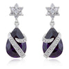 Royal Wrapped Amethyst Earrings