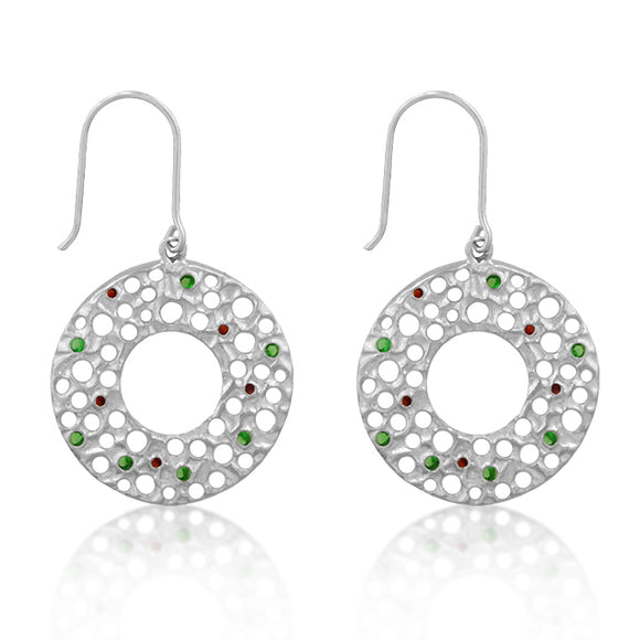 Red and Green Earrings