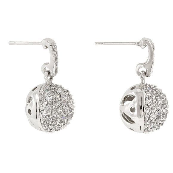 CZ Ball Dangle Earrings