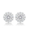 Bella Bridal Earrings in Clear
