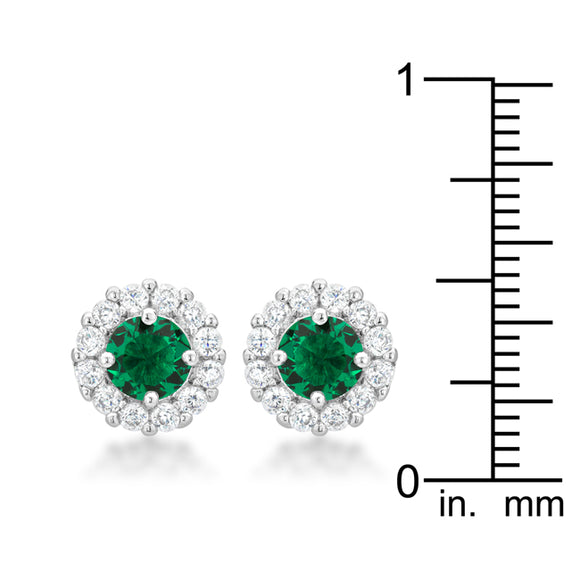 Bella Bridal Earrings in Green