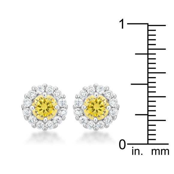 Bella Bridal Earrings in Yellow