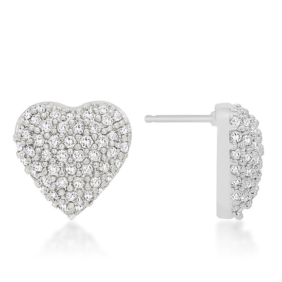 Special Pave Heart Earrings