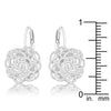 Maya 1.5ct CZ Rhodium Rose Drop Earrings