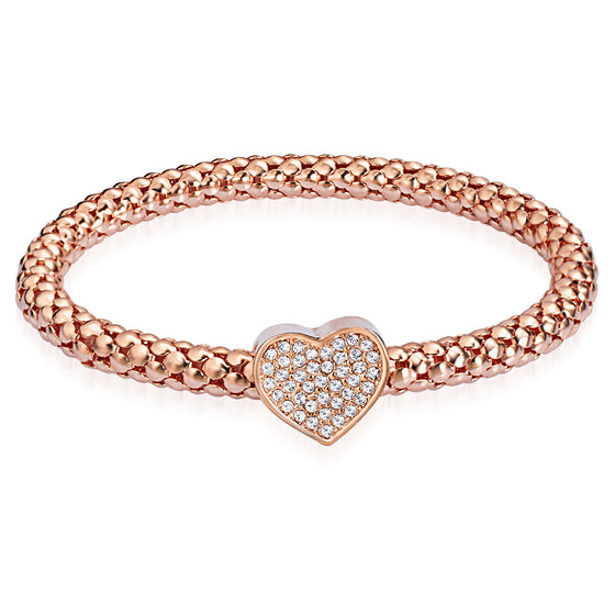 Heart Bracelet With Crystals From Swarovski