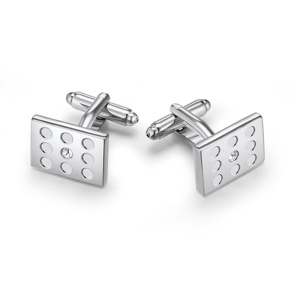 Niner Cufflinks Embellished with Crystals from Swarovski