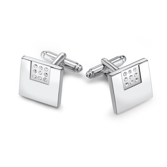 Niner II Cufflinks Embellished with Crystals from Swarovski