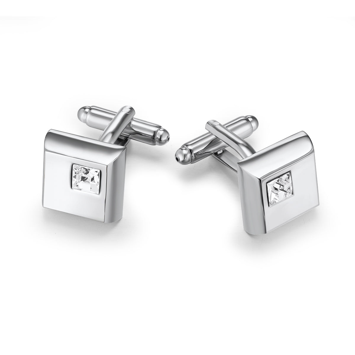 16b6c13437e5 Squared Cufflinks Embellished with Crystals from Swarovski - J GOODIN