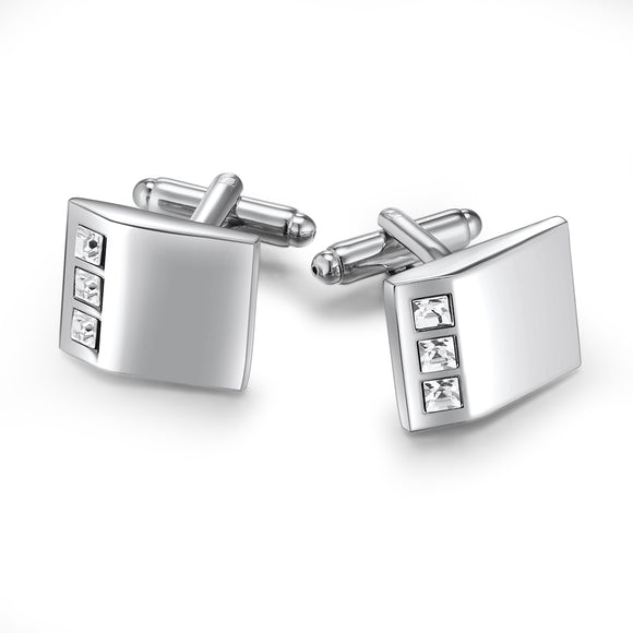 Trip Cufflinks Embellished with Crystals from Swarovski