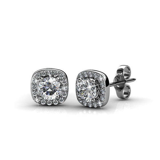 Luxor Stud Earrings with Crystals From Swarovski