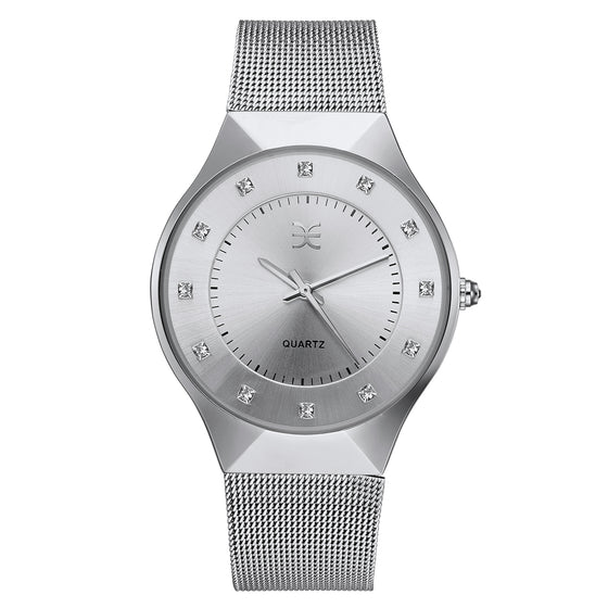 Layla Watch Embellished with Crystals from Swarovski (White)