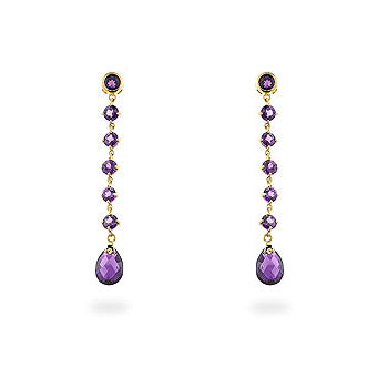 Amethyst Briolette Earrings