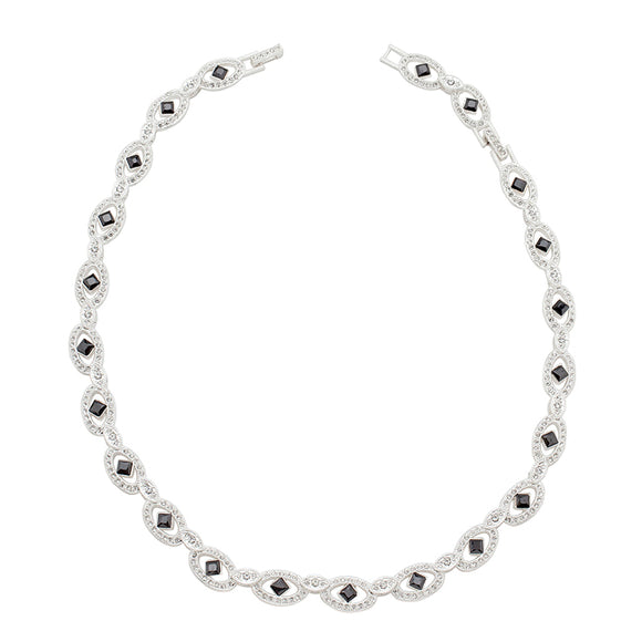 Elegant Black and White Necklace