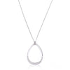 Silvertone Crystal Teardrop Necklace