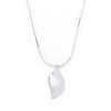 Silvertone Crystal Leaf Necklace