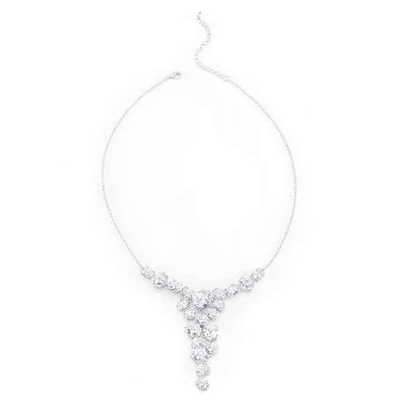 Bejeweled Cubic Zirconia Bib Necklace