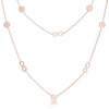Krystal Rose Gold Stainless Steel Infinity Station Layer Necklace