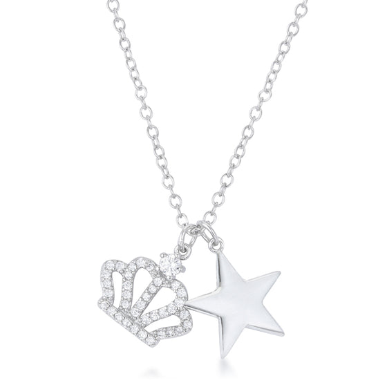 Vanessa Crown & Star Charm 0.4 ct Pendant
