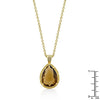 Yellow Cubic Zirconia Teardrop Pendant