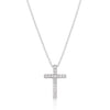 Cubic Zirconia Bling Cross Pendant