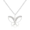 Dainty Butterfly Cubic Zirconia Pendant Necklace