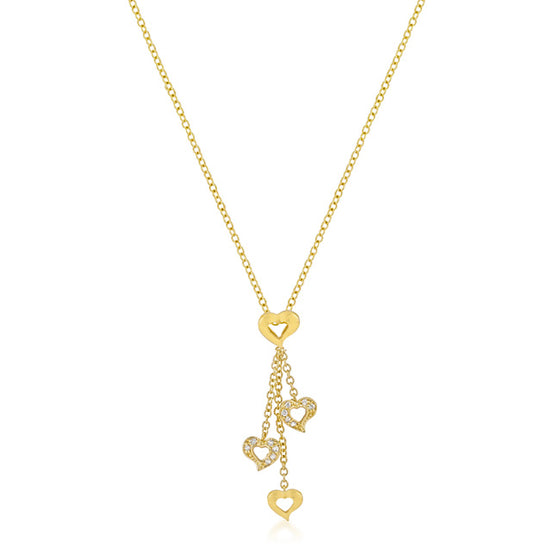 Golden Heart Charm Pendant